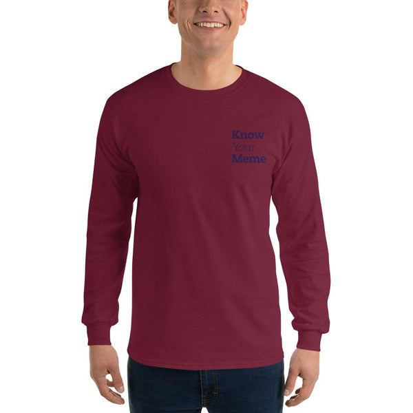 Know Your Meme Long Sleeve T-Shirt shopyourmeme Maroon S