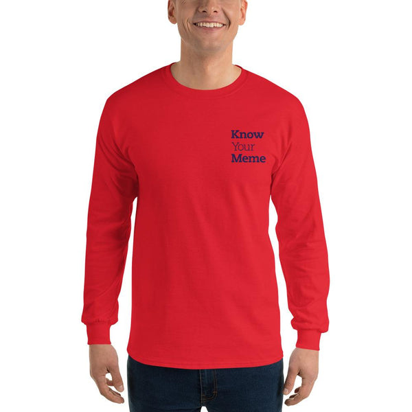 Know Your Meme Long Sleeve T-Shirt shopyourmeme Red S