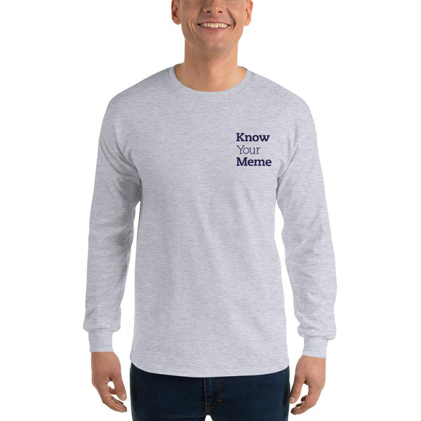Know Your Meme Long Sleeve T-Shirt shopyourmeme Sport Grey S