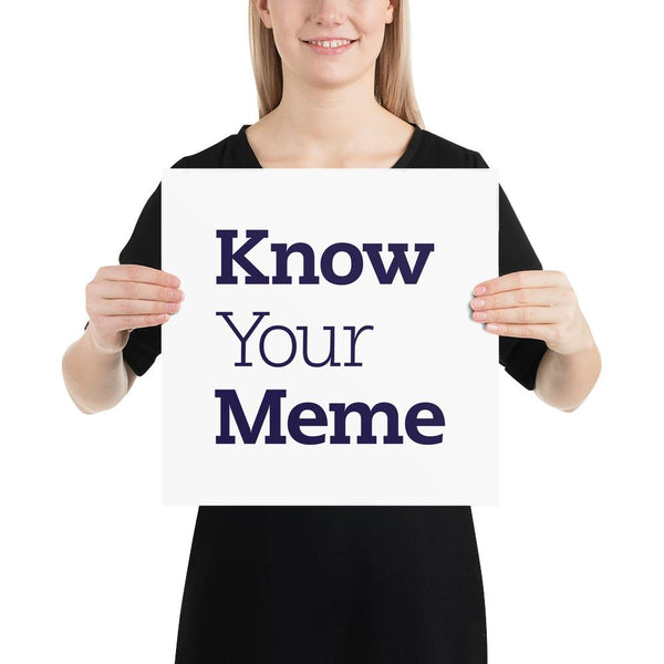 Know Your Meme Poster shopyourmeme 14×14