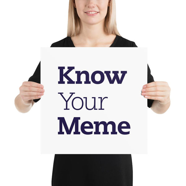 Know Your Meme Poster shopyourmeme 16×16