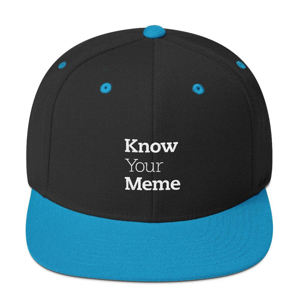 Know Your Meme Snapback Hat shopyourmeme Black/ Teal