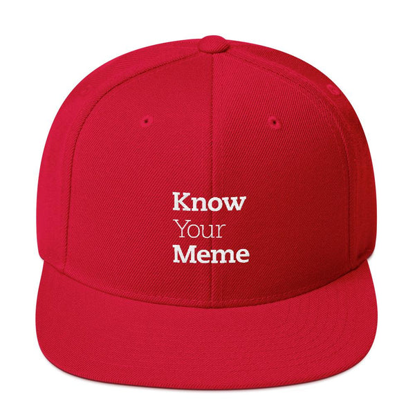 Know Your Meme Snapback Hat shopyourmeme Red