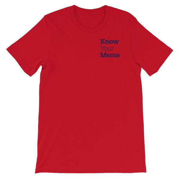 Know Your Meme T-Shirt shopyourmeme Red S