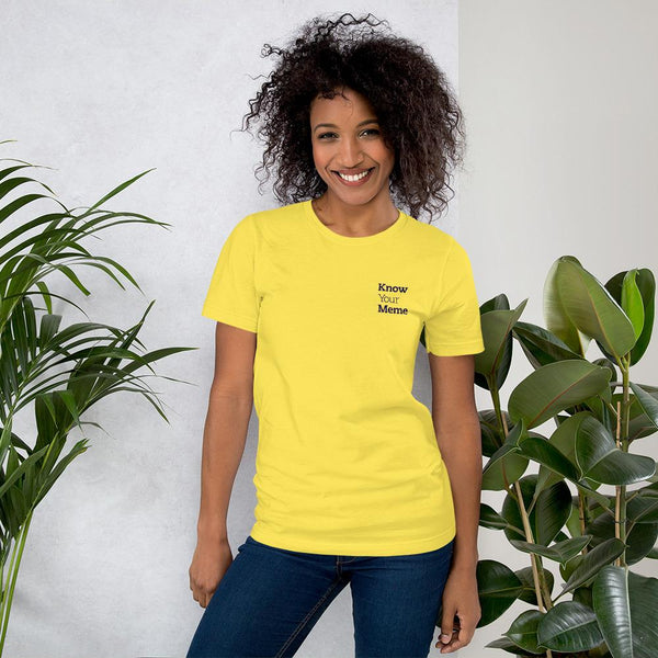 Know Your Meme T-Shirt shopyourmeme Yellow S