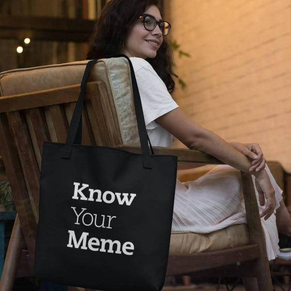 Know Your Meme Tote Bag shopyourmeme Black