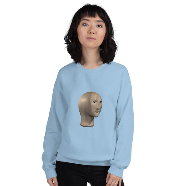 Meme man Sweatshirt shopyourmeme Light Blue S