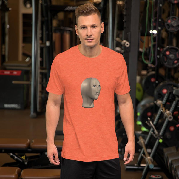 Meme Man T-Shirt shopyourmeme Heather Orange S