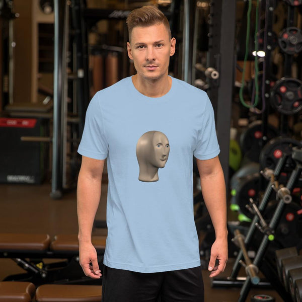 Meme Man T-Shirt shopyourmeme Light Blue XS