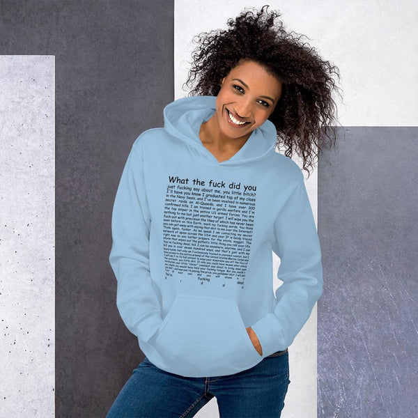Navy Seal Copypasta Hoodie shopyourmeme Light Blue S
