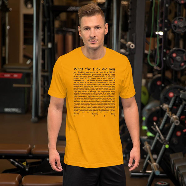 Navy Seal Copypasta T-Shirt shopyourmeme Gold S