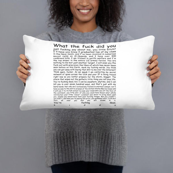 Navy Seal Copypasta Throw Pillow shopyourmeme