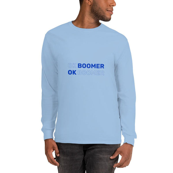 OK Boomer Long Sleeve T-Shirt The Meme Store Light Blue S