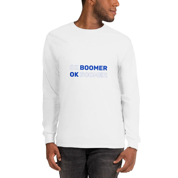 OK Boomer Long Sleeve T-Shirt The Meme Store White S