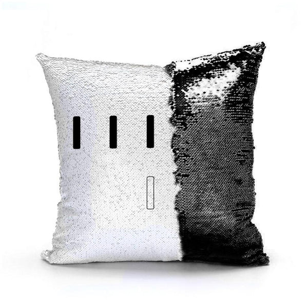 Piper Perri Surrounded Meme Sequin Pillow sequin pillow Podify Black
