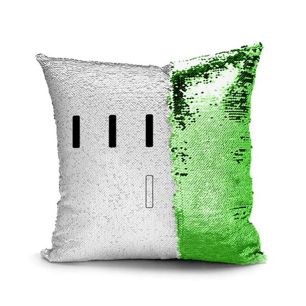 Piper Perri Surrounded Meme Sequin Pillow sequin pillow Podify Green