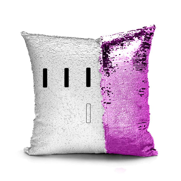 Piper Perri Surrounded Meme Sequin Pillow sequin pillow Podify Pink
