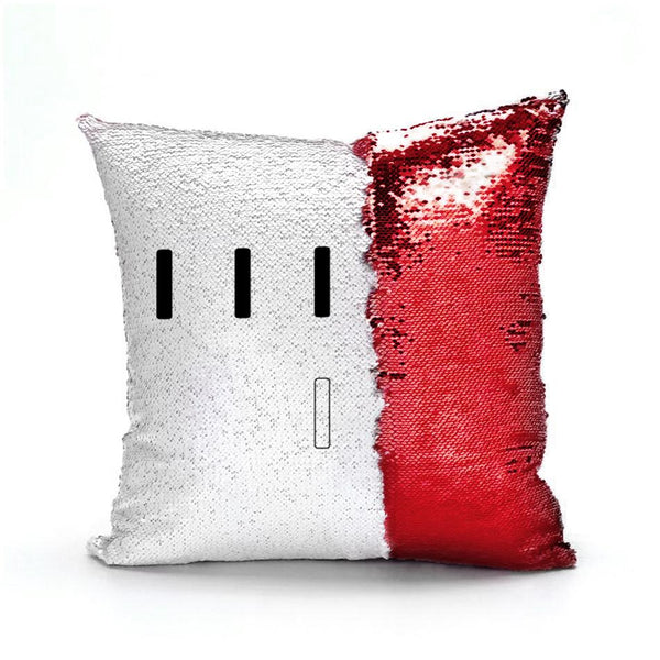 Piper Perri Surrounded Meme Sequin Pillow sequin pillow Podify Red