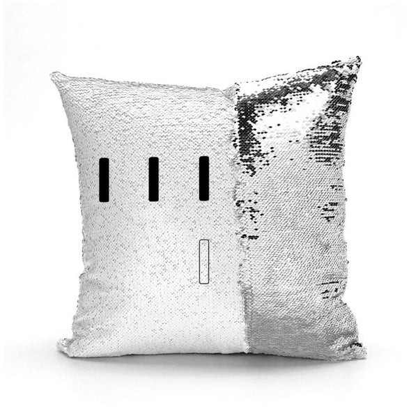 Piper Perri Surrounded Meme Sequin Pillow sequin pillow Podify Silver