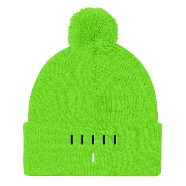 Piper Perri Surrounded Pom Pom Knit Cap Beanie shopyourmeme Neon Green