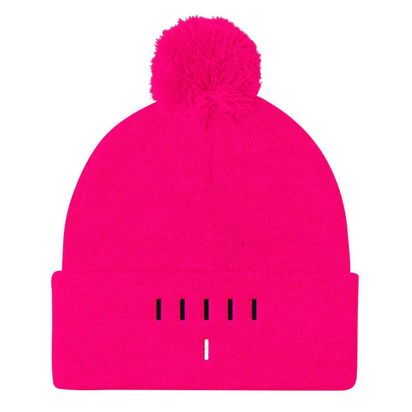 Piper Perri Surrounded Pom Pom Knit Cap Beanie shopyourmeme Neon Pink