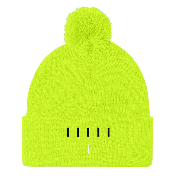 Piper Perri Surrounded Pom Pom Knit Cap Beanie shopyourmeme Neon Yellow