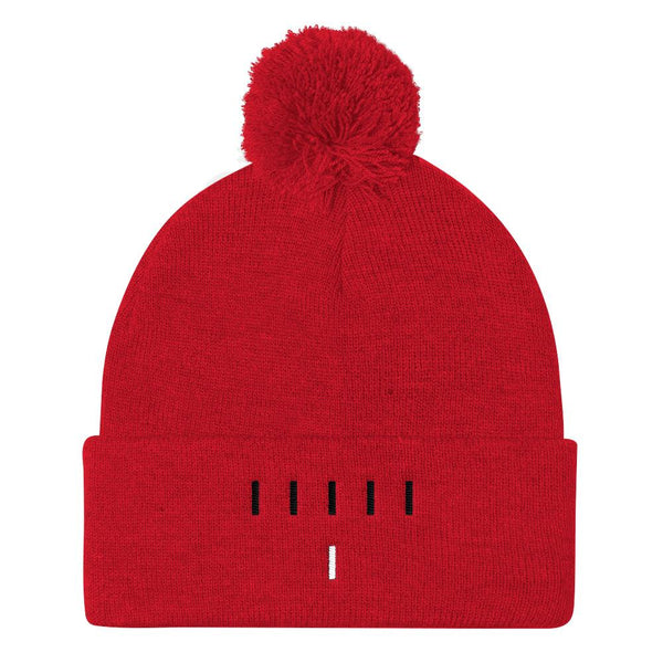 Piper Perri Surrounded Pom Pom Knit Cap Beanie shopyourmeme Red