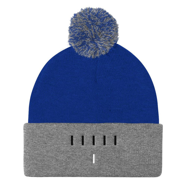 Piper Perri Surrounded Pom Pom Knit Cap Beanie shopyourmeme Royal/ Heather Grey