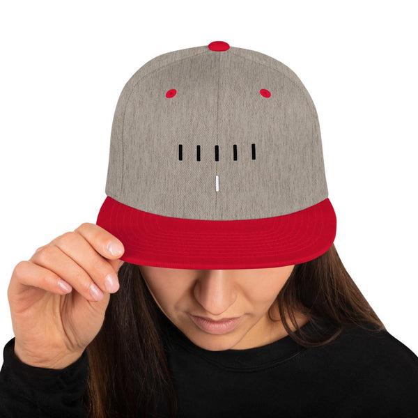 Piper Perri Surrounded Snapback Hat shopyourmeme Heather Grey/ Red