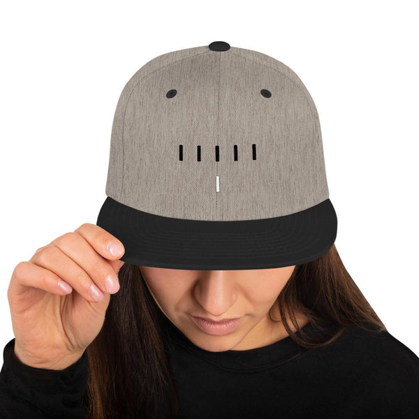 Piper Perri Surrounded Snapback Hat shopyourmeme Heather/Black