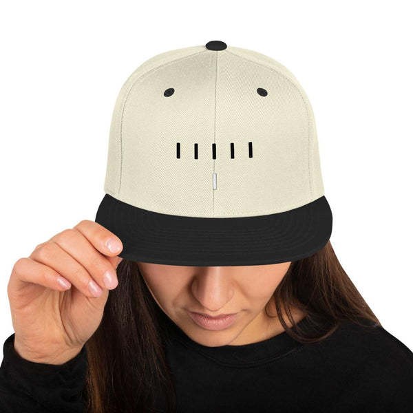 Piper Perri Surrounded Snapback Hat shopyourmeme Natural/ Black