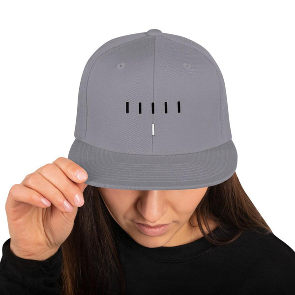 Piper Perri Surrounded Snapback Hat shopyourmeme Silver