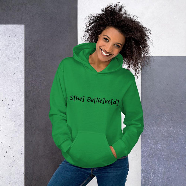 S[he] Be[lie]ve[d] Hoodie shopyourmeme Irish Green S