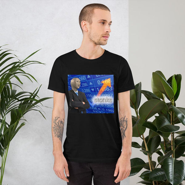 Stonks T-Shirt shopyourmeme Black S