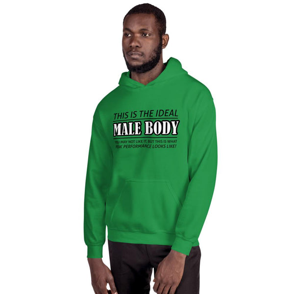 The Ideal Male Body Hoodie shopyourmeme Irish Green S