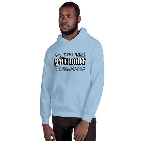 The Ideal Male Body Hoodie shopyourmeme Light Blue S