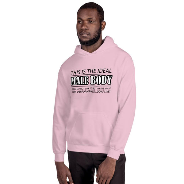The Ideal Male Body Hoodie shopyourmeme Light Pink S