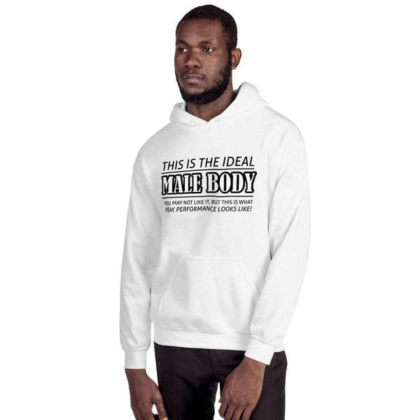 The Ideal Male Body Hoodie shopyourmeme White M