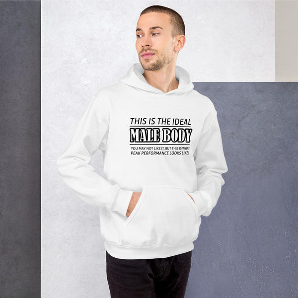 The Ideal Male Body Hoodie shopyourmeme White S