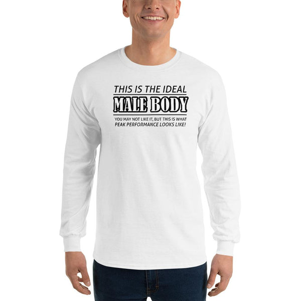 The Ideal Male Body Long Sleeve T-Shirt shopyourmeme White S