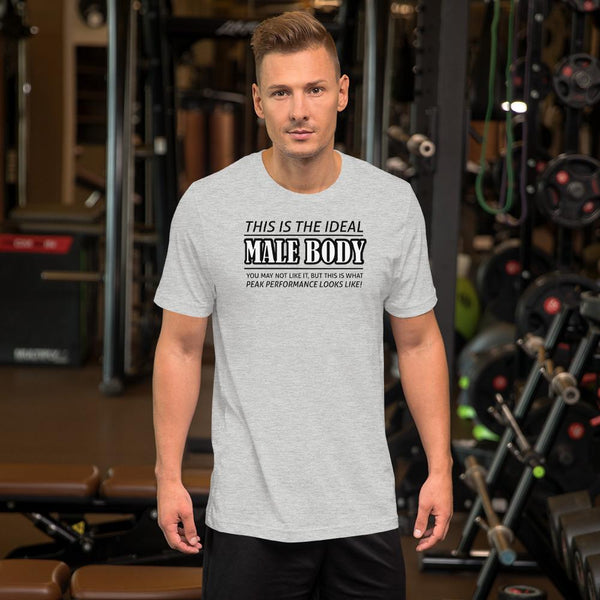 The Ideal Male Body T-Shirt shopyourmeme Athletic Heather S
