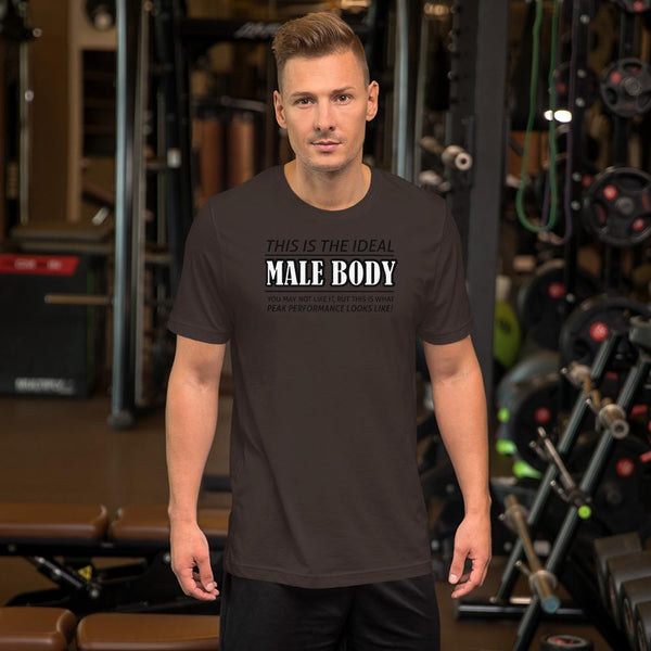 The Ideal Male Body T-Shirt shopyourmeme Brown S