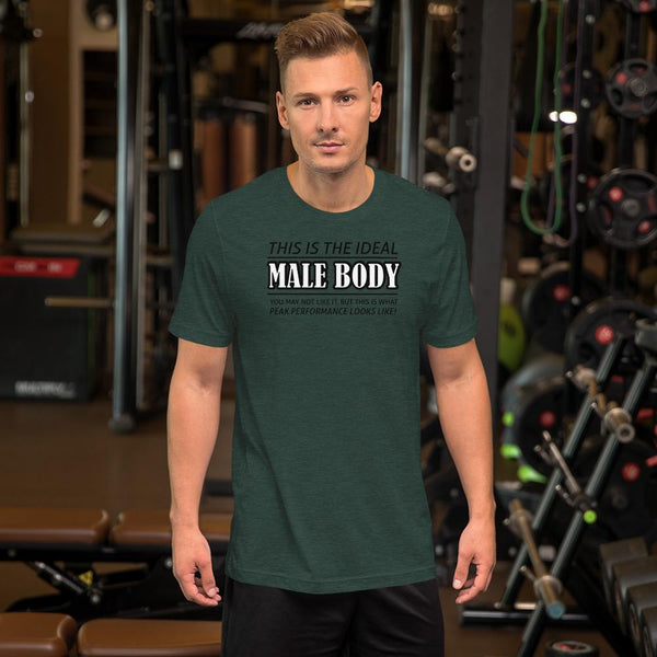 The Ideal Male Body T-Shirt shopyourmeme Heather Forest S