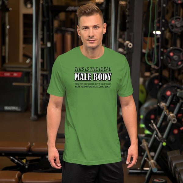 The Ideal Male Body T-Shirt shopyourmeme Leaf S