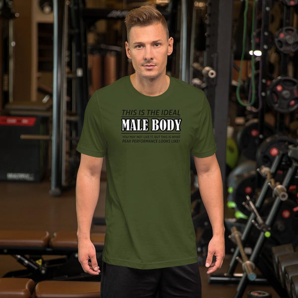 The Ideal Male Body T-Shirt shopyourmeme Olive S