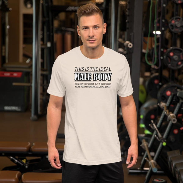 The Ideal Male Body T-Shirt shopyourmeme Soft Cream S