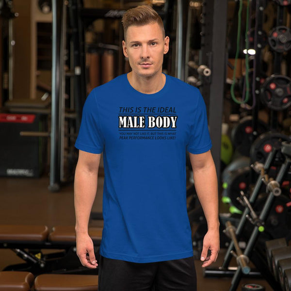 The Ideal Male Body T-Shirt shopyourmeme True Royal S