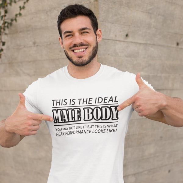 The Ideal Male Body T-Shirt shopyourmeme White S