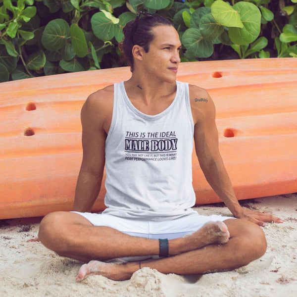 The Ideal Male Body Tank Top shopyourmeme White XS