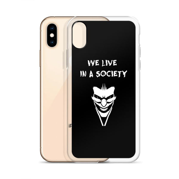 We Live In a Society iPhone Case shopyourmeme